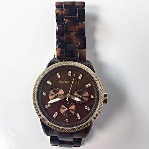 Michael Kors Tortoise Shell  Jet Set Watch